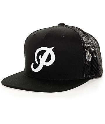 Primitive Classic P Black Trucker Hat