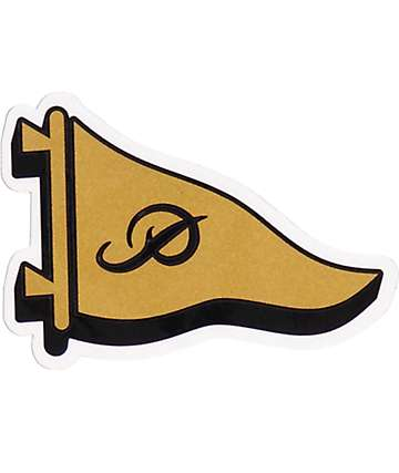 Primitive Classic P Pennant Gold & Black Sticker
