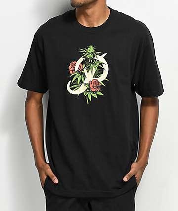 Primitive Classic P Rosebud Black T-Shirt