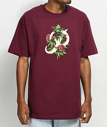 Primitive Classic P Rosebud Burgundy T-Shirt