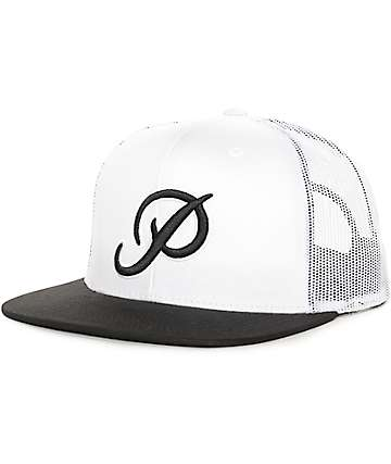 Primitive Classic P White & Black Trucker Hat