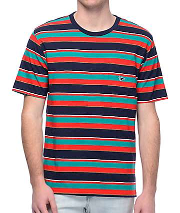 Primitive Classic Red & Blue Stripe Knit T-Shirt