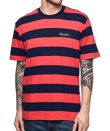 Primitive Classic camiseta a rayas en rojo y azul marino