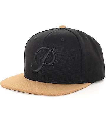 Primitive Classic gorra snapback de lona negra