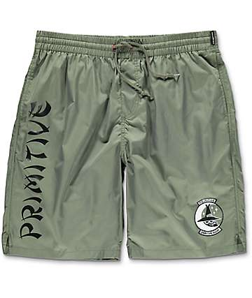 Primitive Coach Nylon Olive Shorts