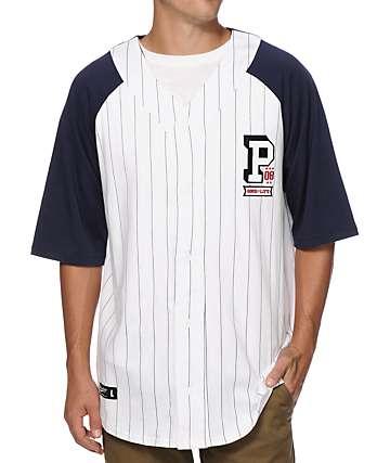 Primitive Collegiate Pinstripe Baseball Jersey
