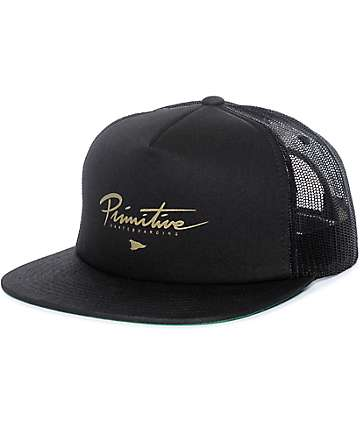 Primitive Core Logo Black Trucker Hat