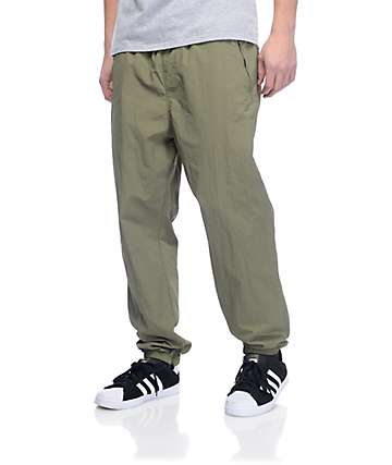 Primitive Creped Olive Track Pants