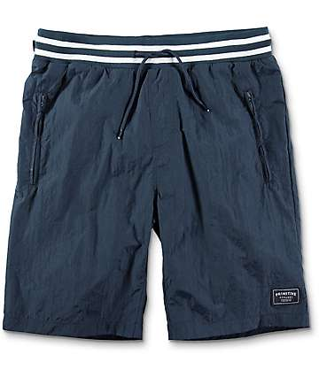 Primitive Creped shorts en azul marino