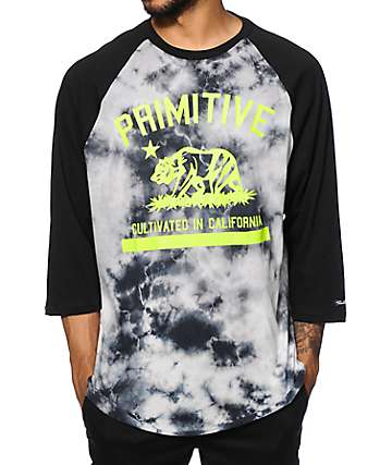 Primitive Cultivated Tie Dye Baseball T-Shirt