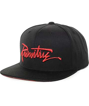 Primitive Death Thrashed Black Snapback Hat