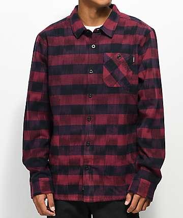 Primitive Diesel chaqueta de franela en rojo y negro