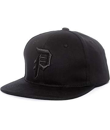 Primitive Dirty P Black & Black Snapback Hat