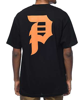 Primitive Dirty P Black & Orange T-Shirt
