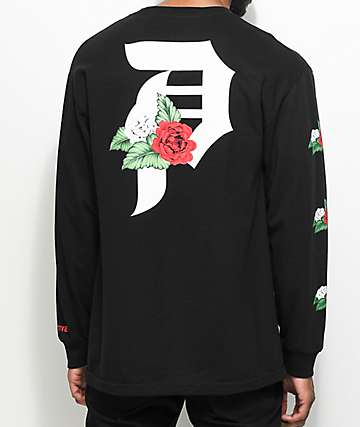 Primitive Dirty P Dos Flores Long Sleeve Black T-Shirt