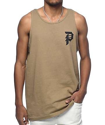 Primitive Dirty P camiseta sin mangas en color marrón