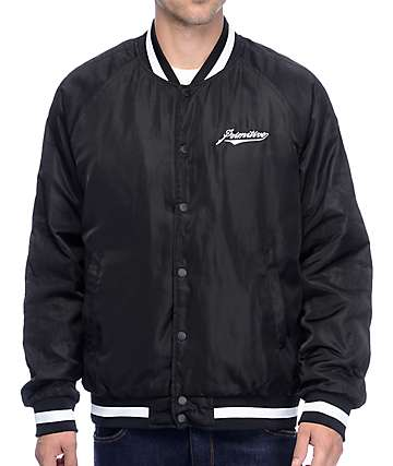 Primitive Dugout Black Bomber Jacket