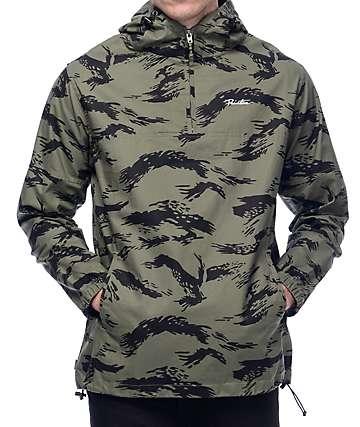 Primitive Endeavor Olive Camo Twill Anorak Jacket