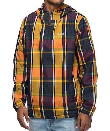 Primitive Endeavor Yellow Plaid Anorak Jacket