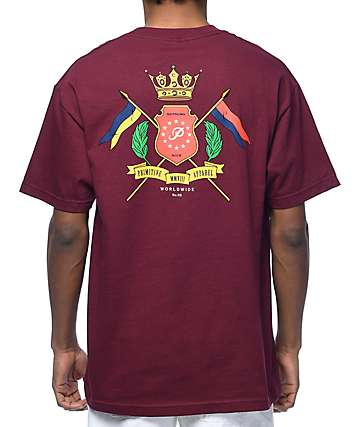 Primitive Family Maroon T-Shirt