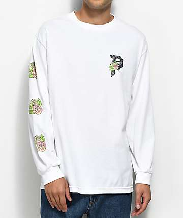 Primitive Floral White Long Sleeve T-Shirt