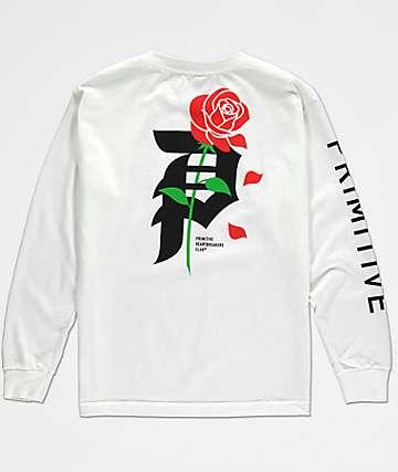 Primitive Heartbreak camiseta blanca de manga larga para niños