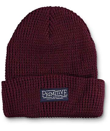 Primitive High Country Burgundy Waffle Beanie