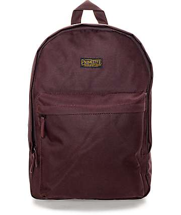 Primitive Homeroom Burgundy Backpack