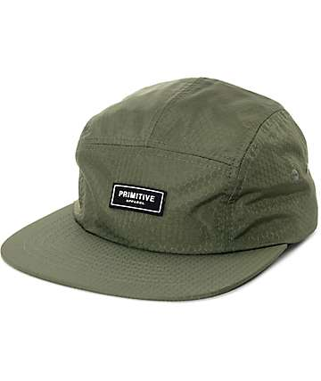 Primitive Honeycomb Pine Needle 5 Panel Hat