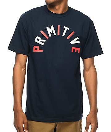 Primitive Independence Arch Navy T-Shirt