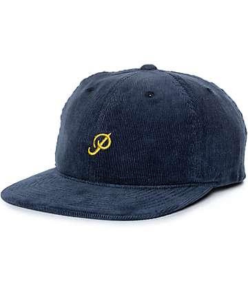 Primitive Mini Classic P gorra strapback de pana en azul marino