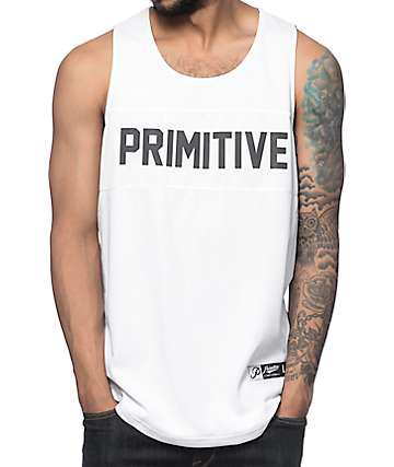 Primitive Mirage White Basketball Jersey