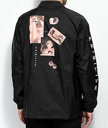Primitive Moods Black Coaches Jacket