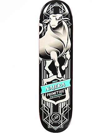 """Primitive Najera Bull 8.0"""" Black Opal Skateboard Deck"""