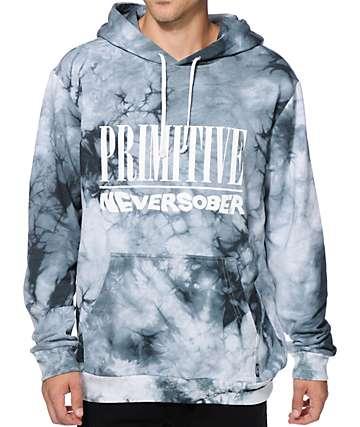 Primitive Never Sober Tie Dye Hoodie