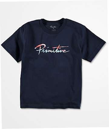 Primitive Nuevo Ink camiseta en azul marino para niños