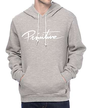 Primitive Nuevo Premium Heather Grey Hoodie