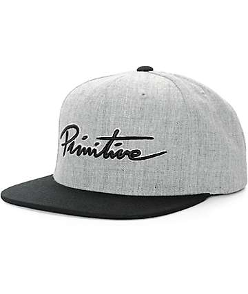 Primitive Nuevo Script Snapback Hat
