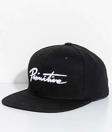 Primitive Nuevo gorra snapback en negro