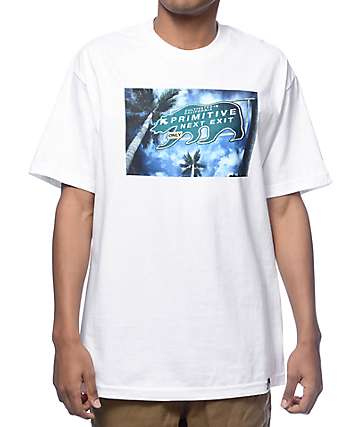 Primitive Off Ramp Box White T-Shirt