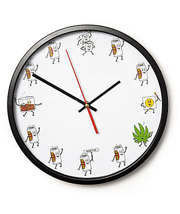 Primitive Party Train Wall Clock