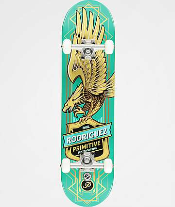 "Primitive Paul Rodriguez Teal Eagle 7.87"" Skateboard Complete"