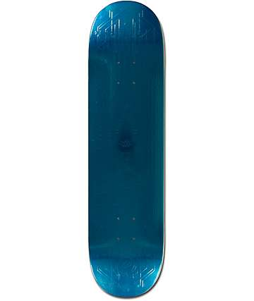 "Primitive Peacock Teal Foil Embossed 8.0""  Skateboard Deck"