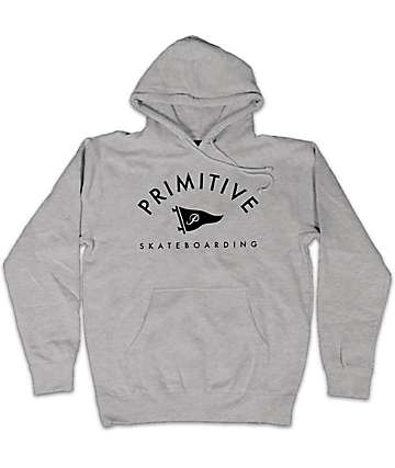 Primitive Pennant Arch II Heather Grey Pullover Hoodie