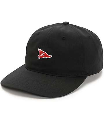 Primitive Pennant Black & Red Strapback Hat