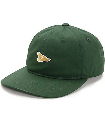 Primitive Pennant Forest & Gold Strapback Hat