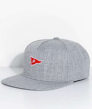 Primitive Pennant Heather Grey Snapback Hat