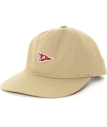 Primitive Pennant Khaki Strapback Hat