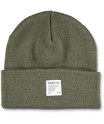 Primitive Registry gorro de color olivo
