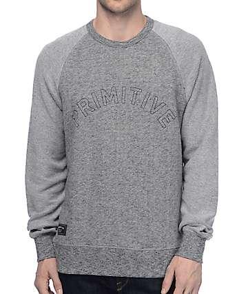 Primitive Reverse sudadera cuello redondo en gris